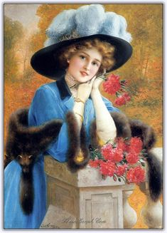 Carnations Are For Love girl Emile Vernon art for sale at Toperfect gallery. Buy the Carnations Are For Love girl Emile Vernon oil painting in Factory Price. Victorian Art, Victorian Women, Vernon, Vintage Pictures, Vintage Images, Illustrations Vintage, Love Oil, Retro Mode, Photo Vintage