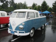 VW Truck, dad bought one of these brand new in 1969 and just loved it and mom hated it....but it could haul all 5 of us comfortably because of the double cab