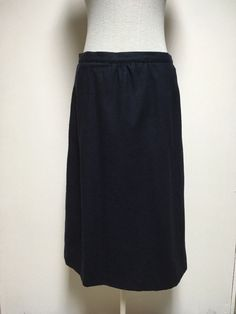 Women s Blue Skirt Size 10 Lined Wool Polyester Cashmere Below Knee