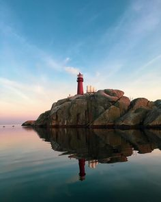 Lighthouse reflections. 🌛 . . . . . . . #reflection #lighthouse #ocean #nature #sunset #view #seaside #coastline #Norway #visitnorway… Visit Norway, Lighthouse, Seaside, Reflection, Ocean, Sunset, Nature, Travel, Instagram
