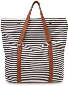 Forever 21 - Blue Shore Thing Striped Tote Bag