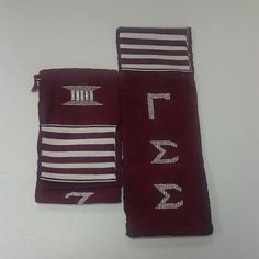 #GammaSigmaSigma #Maroon Hand Woven Kente Stole $35.99 Place Your Order www.greekology101.com