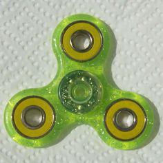 Fidget Spinner Glitter Green/Yellow, Fidget Spinner - Stress Relief, ADD, ADHD,