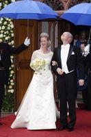 Principessa Nathalie zu Sayn-Wittgenstein in abito da sposa