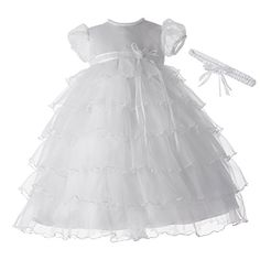 Lauren Madison baby girl Christening Baptism Newborn Multi Tiered Gown With Satin Bodice, White, 9-12 Months Lauren Madison http://www.amazon.com/dp/B0062H92KO/ref=cm_sw_r_pi_dp_cVFnvb10FR9P8