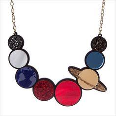 Solar System necklace - laser cut acrylic