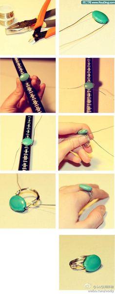 diy ring. I need a ring sizer.. Maybe a big knitting needle?