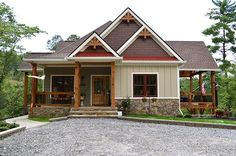 make basement underground and boat garage becomes two bedrooms. lake-home-plan-with-porches-lake-wedowee-retreat