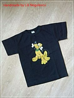 Tricouri pictate pentru copii/ Painted T-Shirts for Kids. - PLUTO -