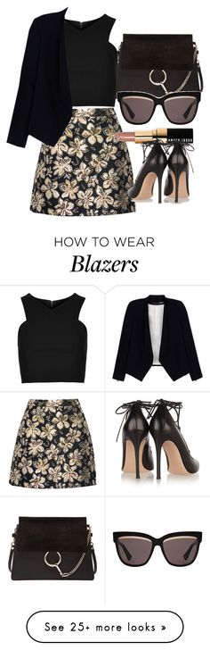 """Untitled #3017"" by glitter-the-world on Polyvore featuring Chloé, Alice + Olivia, Topshop, Bobbi Brown Cosmetics, Gianvito Rossi and Christian Dior"