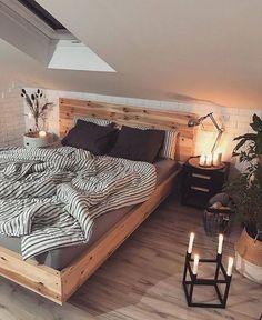 ᴍᴇ ᴍᴇ @ ᴇᴍᴍᴀ_ᴡᴇᴇᴋʟʏ ☆ - Home Decor ᴍᴇ ᴍᴇ @ ᴇᴍᴍᴀ_ᴡᴇᴇᴋʟʏ ☆ cozy room inspiration Source by Casa Hipster, Hipster Home Decor, Appartement New York, Decoration Inspiration, Decor Ideas, Decorating Ideas, Stylish Bedroom, Cozy Room, Cozy Bed