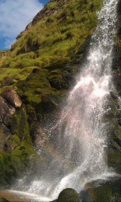 White Lady in a waterfall at Tresaith, Ceredigion,West Wales. What A Wonderful World, Wonderful Places, Beautiful World, Beautiful Places, Cymric, Wales Uk, Snowdonia, Cornwall, Old Photos