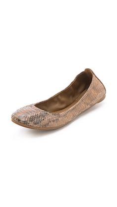 408e8a60056 Tory Burch Eddie Snake Ballet Flats My Size