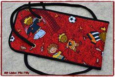 Brustbeutel - Süßer Brustbeutel Fußball für Kinder / Schultüte - ein Designerstück von Filz-Tilly bei DaWanda