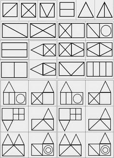 TresQuatreiCinc: FORMES BÀSIQUES PER A P4 I P5. Aprendre a observar les figures. Traducció d'una proposta de Le Journal de Chrys