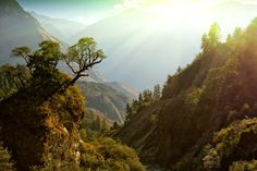 Photo about Fairy morning sunlight on beautiful himalaya landscape, Nepal. Image of landscape, nepal, annapurna - 17292499 Whitewater Rafting, Mountain Photography, Landscape Photography, I Want To Travel, Mountain Landscape, My New Room, Day Tours, Land Scape, Adventure Travel