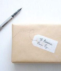gestempelte Geschenkverpackung