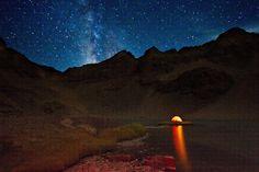 La voie lactée au-dessus du Blue Canyon Lake en Californie. Cette photo a été prise le 30 août dernier.