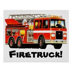 Big Fire Truck Poster!