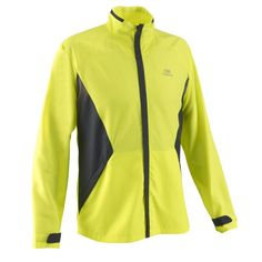 £7.99 - Jackets - Windproof Comfort Men's Running Jacket, Yellow - KALENJI
