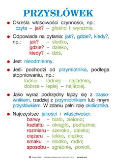 Wersus - pomoce dydaktyczne - Język polski, część 1 - Ortografia i części mowy Learn Polish, Teacher Morale, Polish Language, School Notes, Learning Process, Teaching Activities, School Hacks, School Organization, English Vocabulary