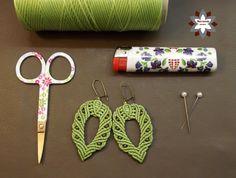 Tutorial: Beginner's easy macrame earrings with tiny metal beads
