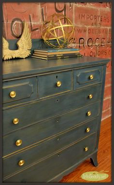 ART IS BEAUTY: Custom Blue Chest of Drawers (starry night blue) Makeover