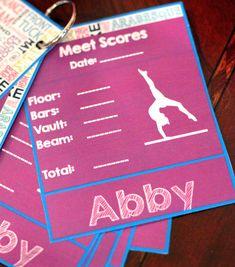 Personalized gymnastics meet score book.  Ekbowtique@yahoo.com to order