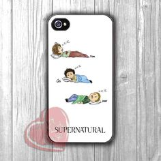 Supernatural drawing Team Freewill cute sleeping -SHN for iPhone 6S case, iPhone 5s case, iPhone 6 case, iPhone 4S, Samsung S6 Edge