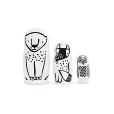 Forest Animals Nesting Dolls - mini mioche - organic infant clothing and kids clothes - made in Canada