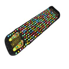 Hot Sale Medialbranch Colorful Plastic Foot Massager Pad Acupuncture Cobblestone Yoga Mat 175*35cm Easy Take Foot Massage Tool