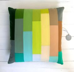 unique patchwork decor pillow by lamoppe on Etsy, Patchwork Pillow, Chair Pads, Decoration, Decorative Pillows, Sewing Crafts, Living Room Decor, Pillow Covers, Interior Decorating, Cushions