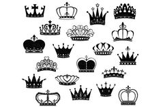 Crown Silhouette ClipArt by SA ClipArt on @creativemarket