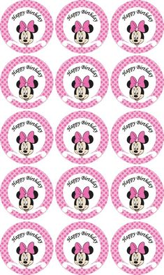 Items similar to Disney Minnie Mouse pink Birthday party cupcake toppers- printable on Etsy Minnie Mouse Party, Minnie Mouse Stickers, Minnie Mouse Cupcake Toppers, Minnie Mouse Birthday Decorations, Minnie Mouse 1st Birthday, Minnie Mouse Pink, Pink Birthday, Mouse Cake, Cupcake Toppers Free