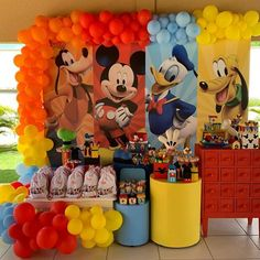 Photos and Videos Mickey Mouse Birthday Decorations, Mickey Mouse Clubhouse Birthday Party, Mickey Mouse Parties, Mickey Party, Elmo Party, Dinosaur Party, Mickey 1st Birthdays, Mickey Mouse First Birthday, Girl 2nd Birthday