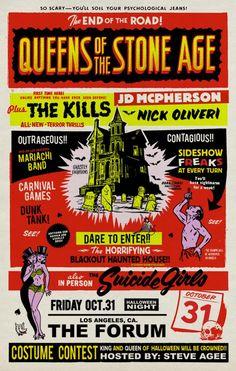 QOTSA and friends Halloween concert Poster