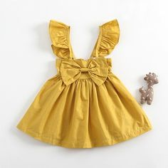 Check out my new Pretty Solid Bow Decor Flounce-sleeve Dress for Baby G . Check out my new Pretty Solid Bow Decor Flounce-sleeve Dress for Baby Girl, snagged at a c Baby Outfits Newborn, Toddler Outfits, Baby Boy Outfits, Kids Outfits, Winter Outfits, Newborn Clothing, Girl Clothing, Winter Clothes, Summer Outfits
