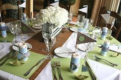 scrapbook paper as placemat-perfect for the club