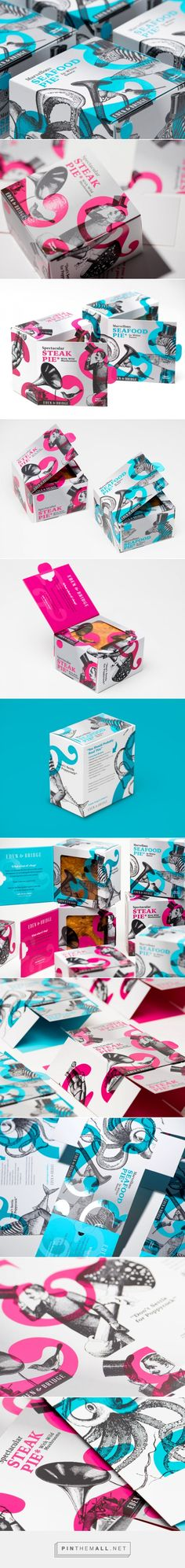 Colorful Packaging for Savory Eden & Bridge Premium Pies / Designed by Fable&Co.