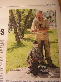 "Little ""String Sick"" Steve in the local newspaper..."