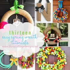 A collection of simple spring wreath tutorials.