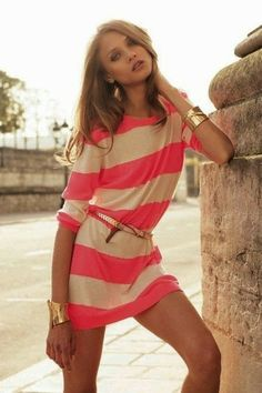 Cute for any summer day! Love the casual and comfortable look and ease of a dress.