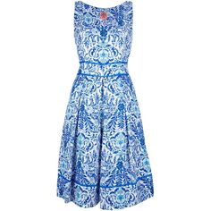 TORY BURCH floral print dress (1.020 BRL) ❤ liked on Polyvore featuring dresses, vestidos, pleated dress, floral skater skirts, floral dresses, flower print dress and pleated skater skirt