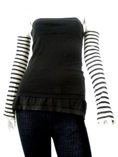 Designer: Sinha Stanic Stretch    Item: Muff    Composition: 54% Viscose 46% Nylon    Made in Italy    Description:    Long striped muffs, seam on the slant      > Need Help?    Price $ 104.00 $ 47.00    Discount: -55%