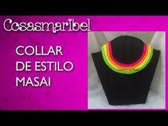 DIY:Como hacer un collar de hilo de colores estilo masai. - YouTube