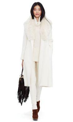 Shearling-Collar Wool Coat - Polo Ralph Lauren Outerwear - RalphLauren.com