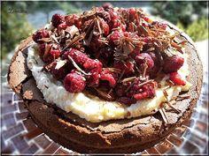 Limara péksége: Liszt nélküli csokitorta fehércsokis mascarponével... Hungarian Recipes, Eat Dessert First, Naan, Acai Bowl, Bakery, Cheesecake, Lime, Food And Drink, Cooking