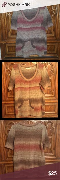 Casual pullover Multicolored casual pullover sweater. Lightweight and thin but hold heat well. Worn with jeans and boots. Maroon and brown with a splash of grey has front pockets for comfort. Measures: 29 inch from shoulder seam to bottom. Maurices Tops Sweatshirts & Hoodies