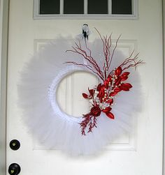 A Fish Who Likes Flowers: It's Beginning To Look A Lot Like Christmas... would look best on a red door