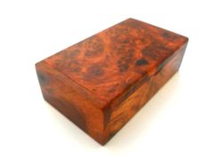 Natural Burl Wood Box Burl Name Card Box Wooden by WoodCarvingArt